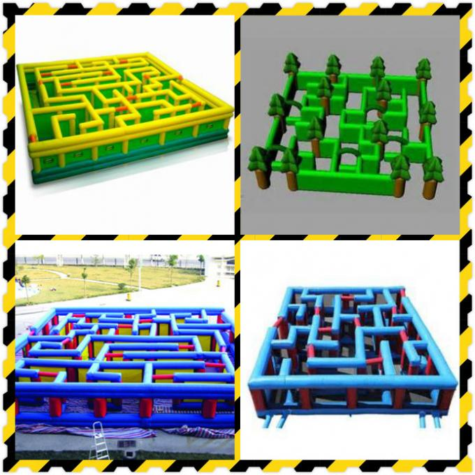 Square Interactive Maze Games, Inflatable Labyrinth Games For Sale