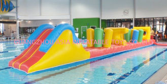 Çin Indoor Swimming Pool Games, Inflatable Obstacle Course For Sale Fabrika