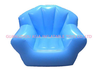 Comfortable Light Blue Pvc Tarpaulin Inflatable Chair Sofa For One People