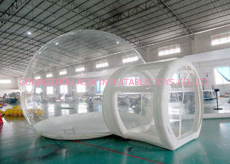 Çin Half Transparent Inflatable Dome Tent / Bubble Tent For Lawn Camping Fabrika