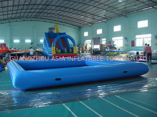 Çin Customize Made Kids Inflatable Pool Water Park with Slide for Fun Fabrika