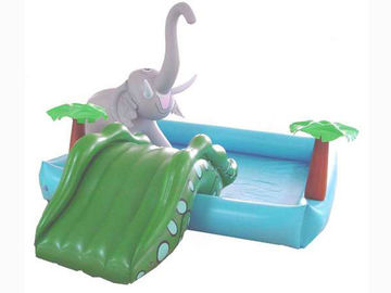 Çin Small Water Park Kids Inflatable Pool with Animal for Backyard Play Fabrika