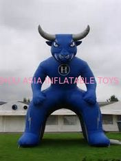 Çin Inflatable Blue Bull Entrance, Inflatable Tunnel For Sports Event Fabrika