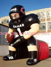 Çin Inflatable Tunnel With NFL Player Model For Event Promotion And Advertising Fabrika