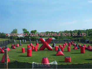 Çin Inflatable Paintball Bunker for paintball Field Equipment Fabrika