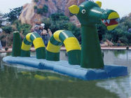 Giant Green Dragon Obstacle Course, Inflatable Water Challenge sports Tedarikçi
