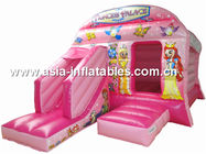New inflatable princess pink bouncy castle/Commercial Inflatable combo Tedarikçi
