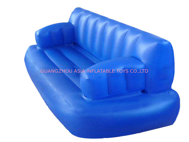 Water Floating Blue Inflatable Sofas And Couches For Sleeping With Commercial Quality Tedarikçi