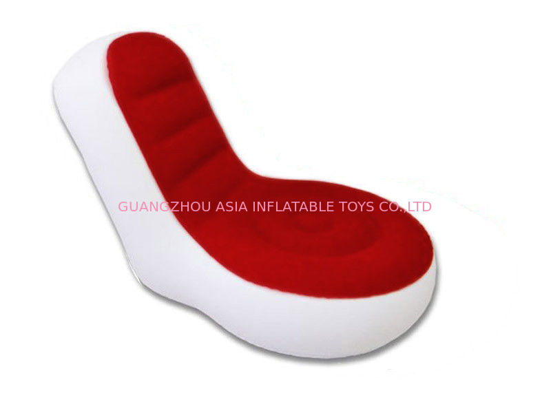 Light Weight 0.6mm Pvc Tarpaulin  Inflatable Chair Sofa With Red And White Color Tedarikçi