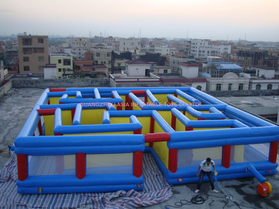 Square Interactive Maze Games, Inflatable Labyrinth Games For Sale Tedarikçi