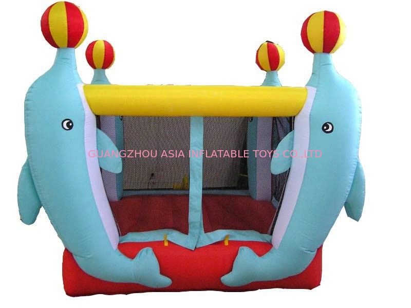 3.5ml Inflatable Amusement Park With Mini Dolphin For Entermainment Tedarikçi