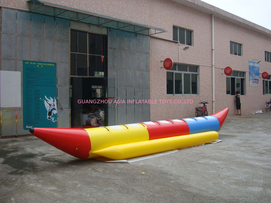 6.9ml Inflatable Banana Boat Water Games With 8 Seats , Inflatable Water Games Tedarikçi
