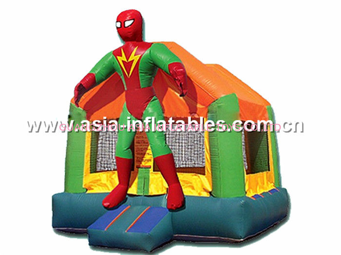hot sale Superman inflatable combo with slide commercial quality Tedarikçi