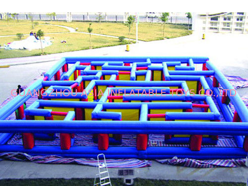 Outdoor Inflatable Maze Obstacle, Inflatable Maze Crossing Game For Kids Tedarikçi