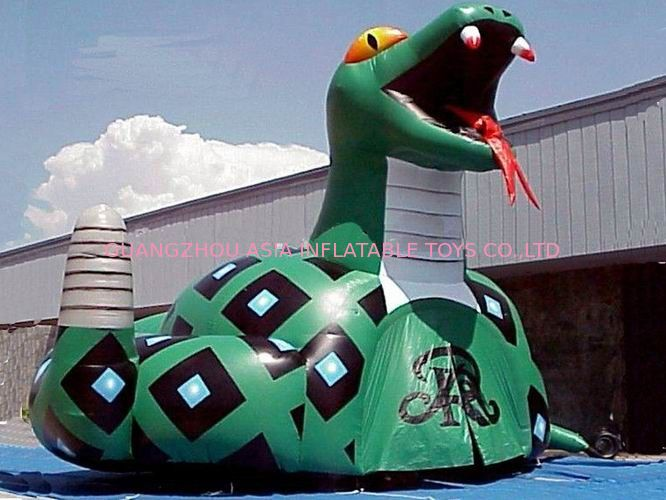 Inflatable Poison Snake Design Tunnel For Outdoor Business Promotion Tedarikçi