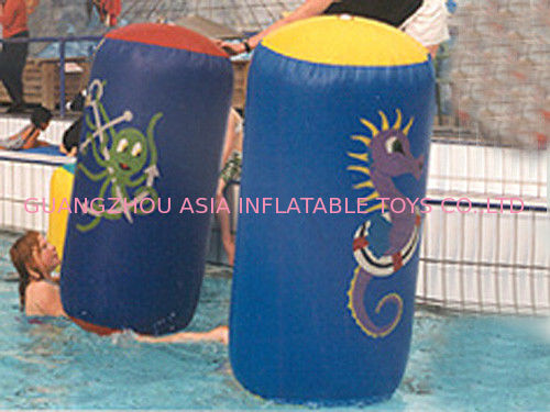 Pillar Shape Blue And Yellow Inflatable Buoys Used In Swimming Pool Tedarikçi