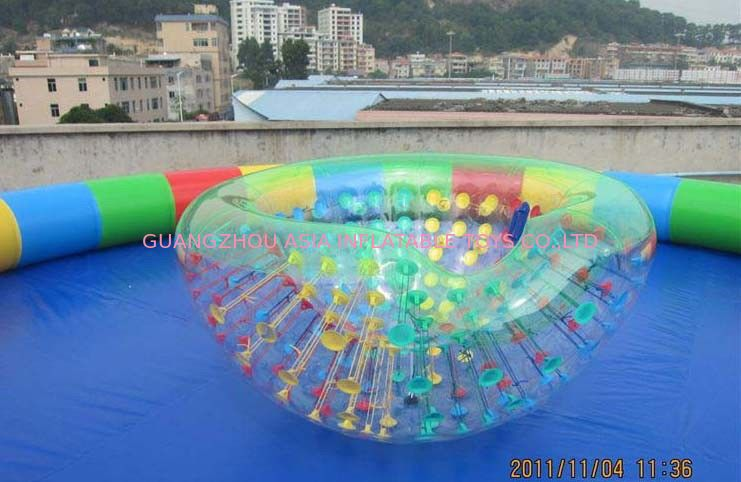 Coco Half Ball / Half Zorb / Floating ball / Inflatable Beach Cocoon for Kids Inflatable Pool Tedarikçi